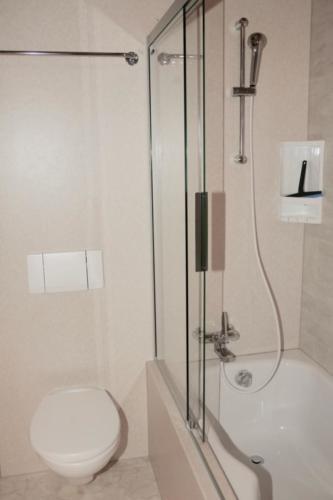 Badezimmer (Dusch-Badewanne & WC)